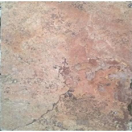 Piso de marmol rojo travertino for Como limpiar pisos de marmol