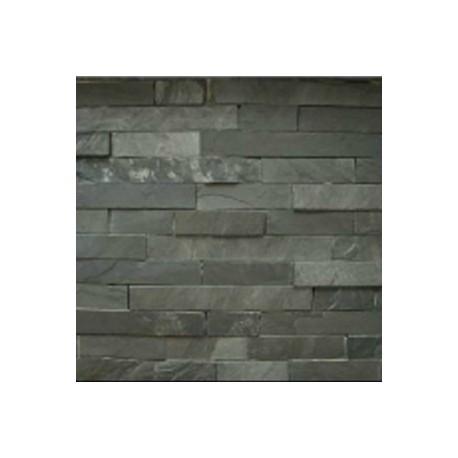 Piedra para fachadas laja pizarra negra - Recubrimientos para fachadas ...