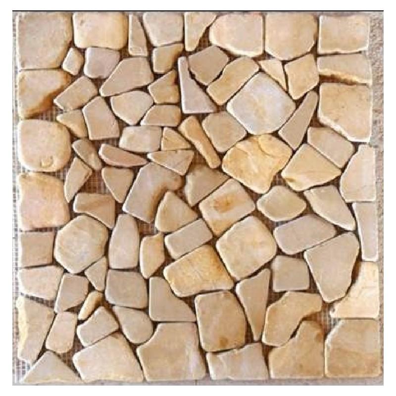 Mosaico de marmol piedra rio cobre for Precio mosaicos para exterior
