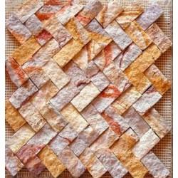 Piedra Mosaico Tronchado Zigzag Arcoiris