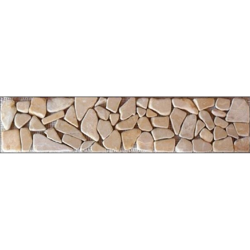 Cenefa decorativa piedra r stica dorada for Papel para pared imitacion piedra