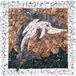 Tapete de Marmol y Onix Delfín marron