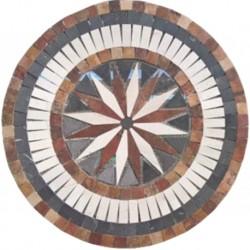 Tapete de Marmol Estrella Circulo